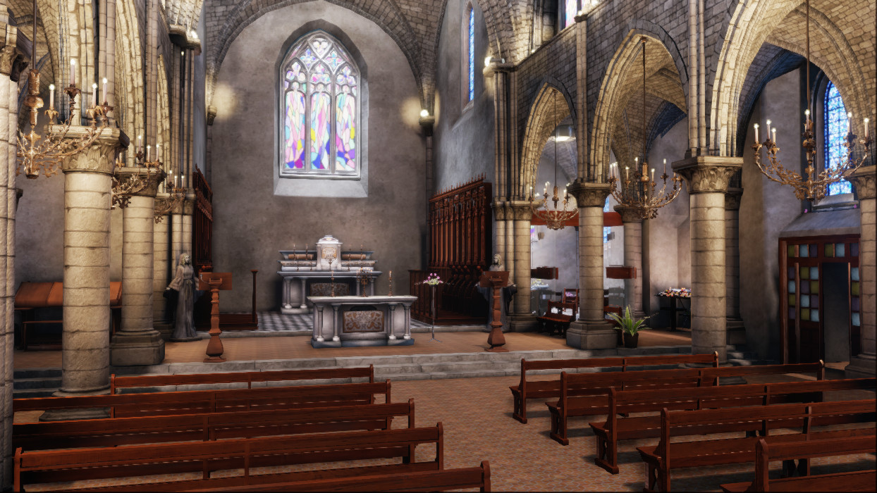 Church Game Environment UDK by amaterasu111