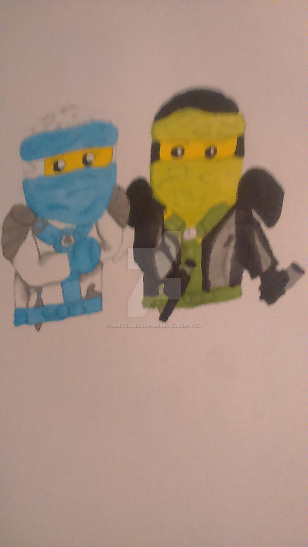 Lego Ninjago #374 Lloyd and Elena by ElenaWindMaster