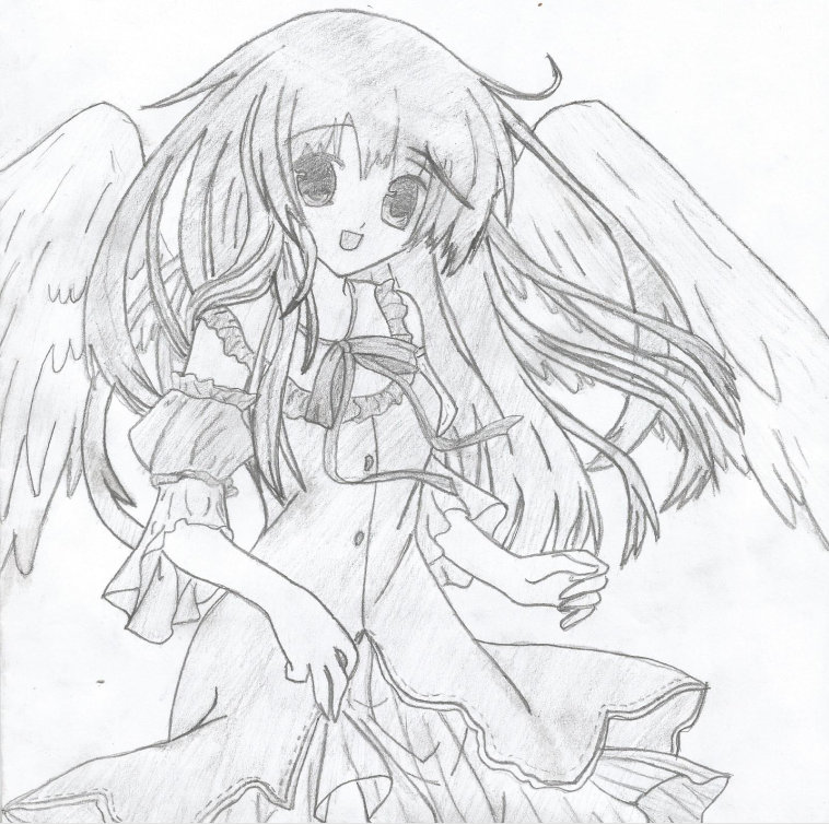 Anime angel girl by ryo67191