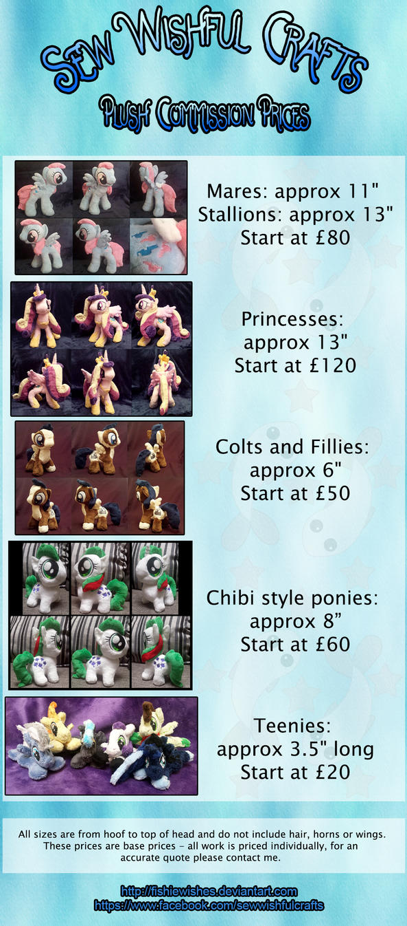 Plush Price List by fishiewishes