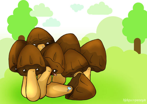 Chocolate Mushrooms by kickass-peanut