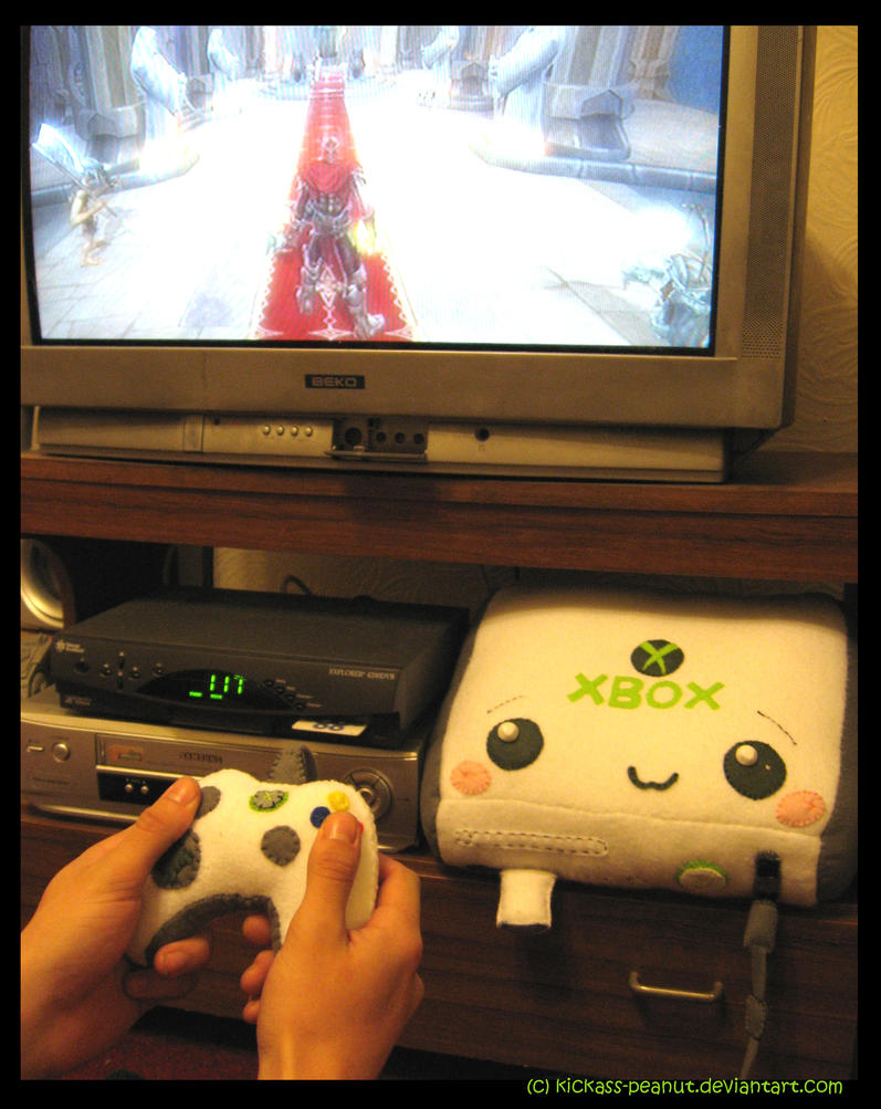 Xbox 360 Plushie by kickass-peanut