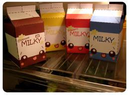 Fridge O' Milky Cartons by kickass-peanut