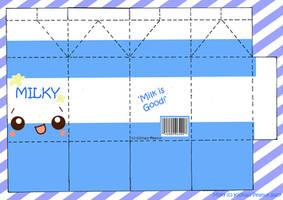 Milk Milky PaperCraft Sheet by kickass-peanut