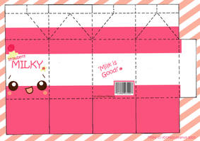 Strawberry Milky PaperCraft by kickass-peanut