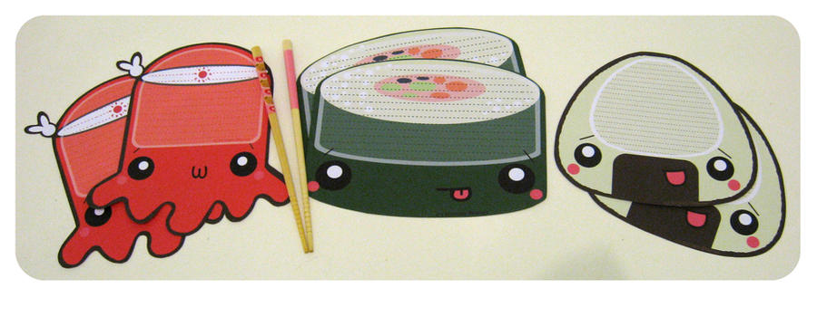 Sushi Letterset by kickass-peanut