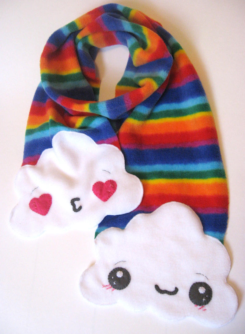 Rainbow Scarf by kickass-peanut