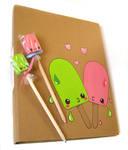 Lime-ice Painted folder by kickass-peanut
