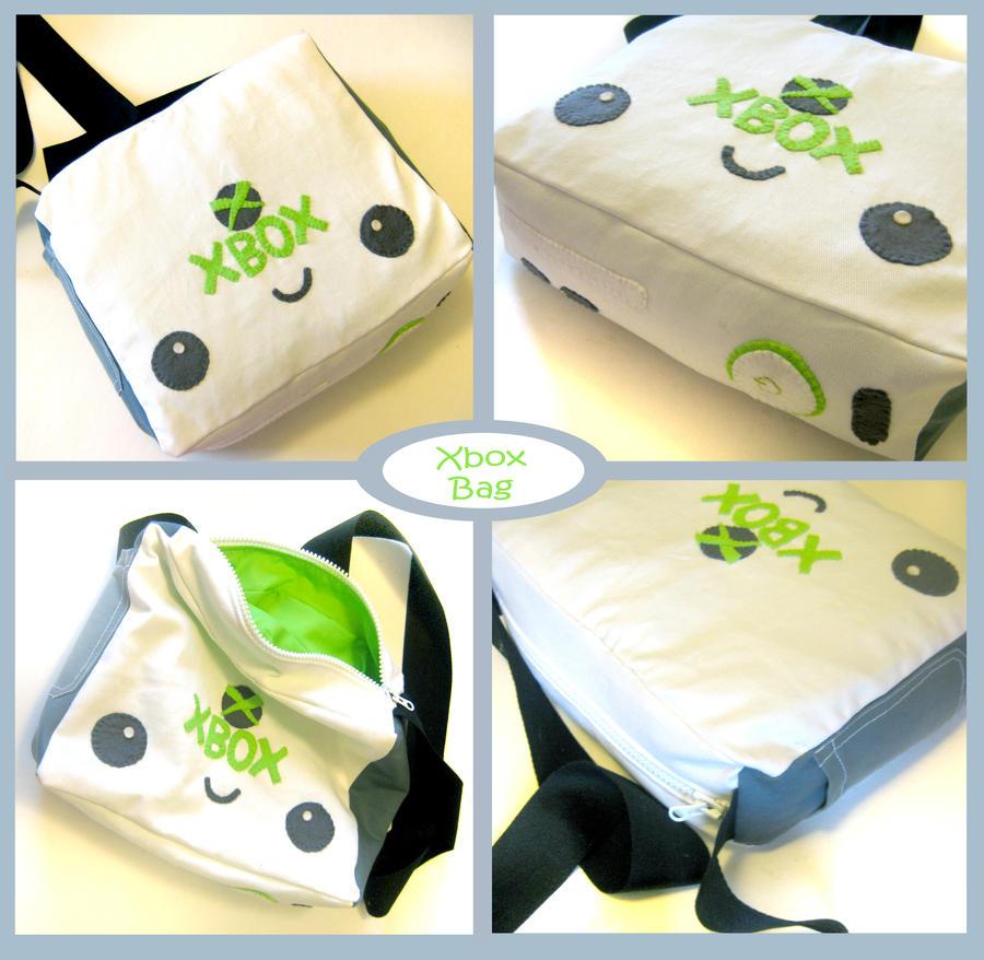 Xbox 360 Kawaii Messenger Bag by kickass-peanut
