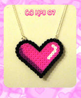 Pixel Heart Necklace by kickass-peanut