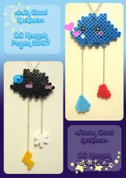 Rain-Storm Cloud Necklaces by kickass-peanut