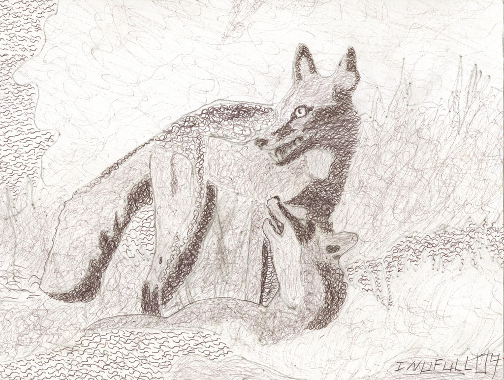 300th deviation. foxes in pen by inufull09