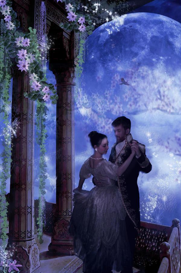 Couples dancing in the moonlight