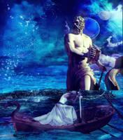 Poseidon and the Shield Maiden by designdiva3