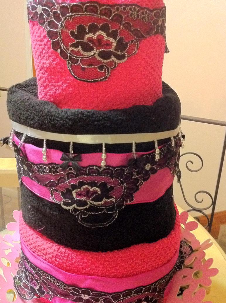 Hot Pink Black lace Cake Craft by designdiva3 on DeviantArt
