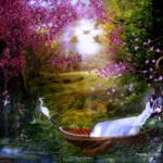 Amor de primavera with a different background by designdiva3