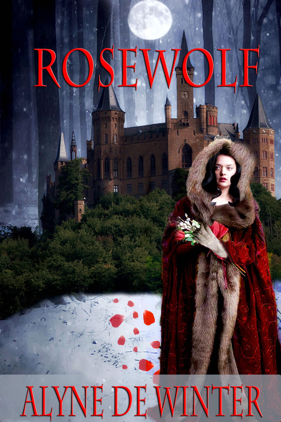 Rosewolf Book Cover manipulation by designdiva3