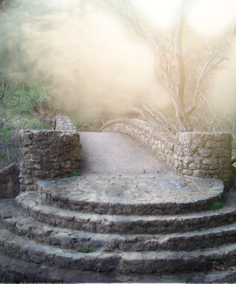 Foggystaircase1 Stock by designdiva3