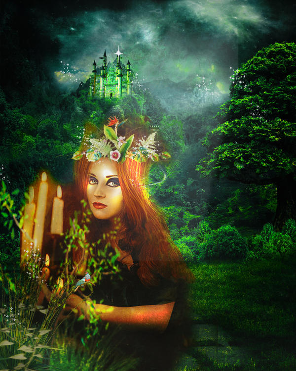 Muse of the emerald forest