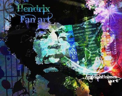 Jimmy hendrix fan Art by designdiva3