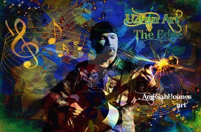 The Edge U2 Fan Art by designdiva3