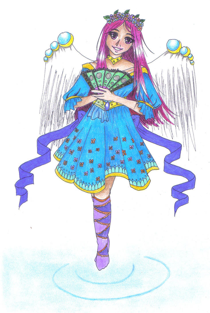 A gently muse (colored version) by JasmineYutaka
