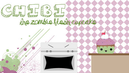 chibi the zombie flesh cupcake by holiebuckets