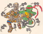 TMNT: Raph vs The Rat King by CartoonWill