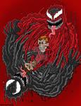 Venom v.s Carnage by CartoonWill