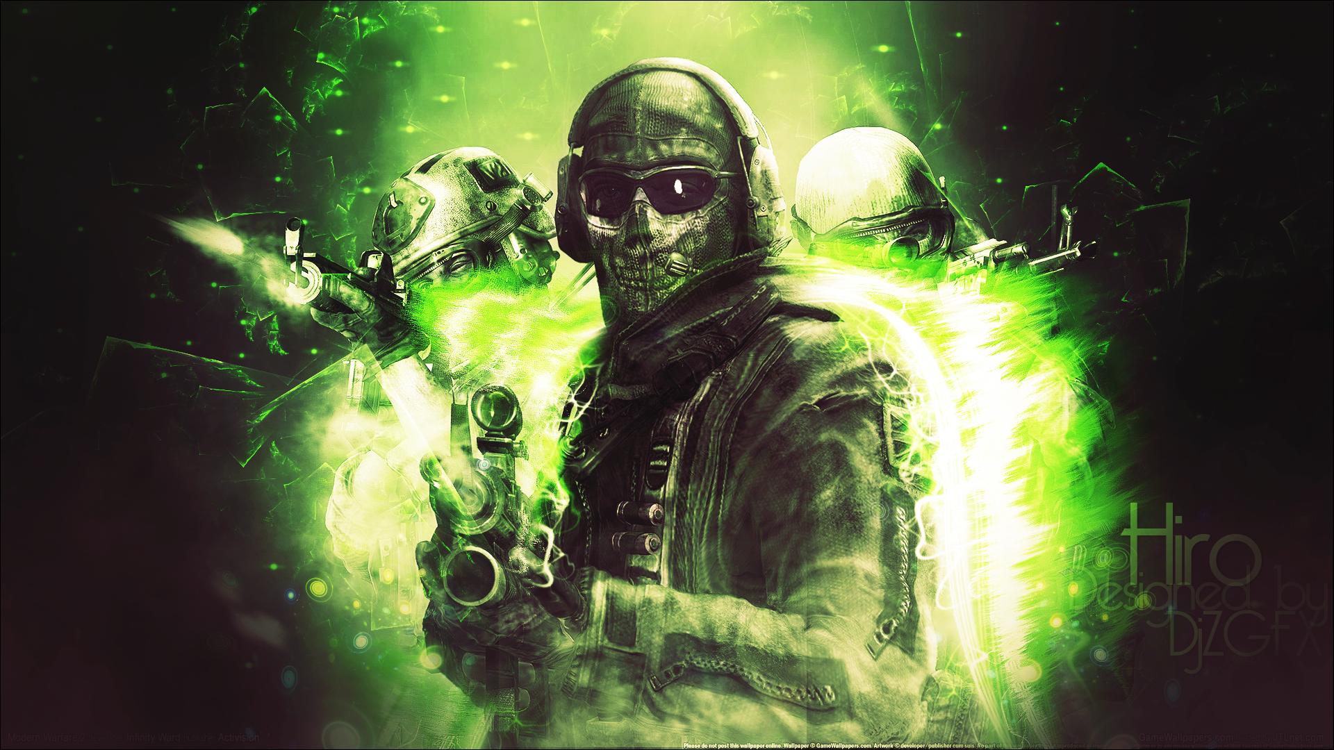 djzgfx graphics: modern warfare 2: ghost wallpaper hd