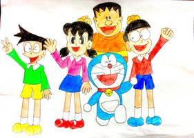 Doraemon and friends-Group photo by doraemon-suneo