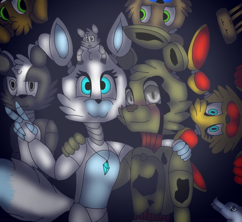 Buncha friends doing friend things. by TheKittyCatGames