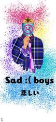 sad boys version one wallpaper by Hitplaystudios