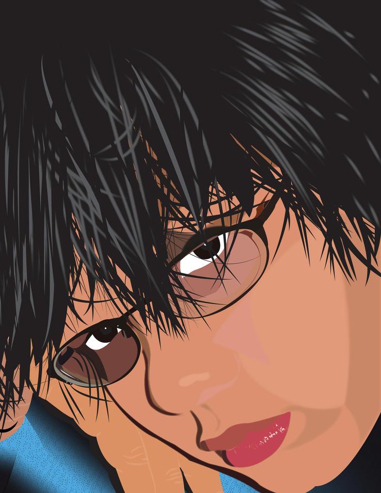 Illustrator portait by Strayblackcat