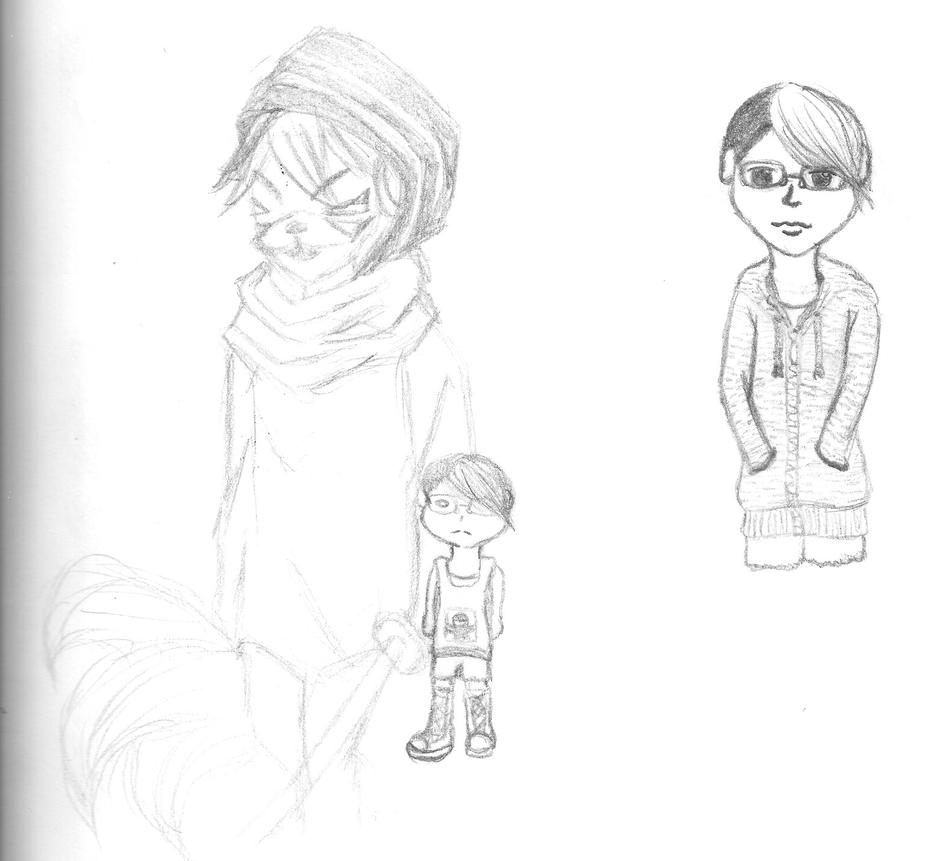 random sketches 2 by Strayblackcat