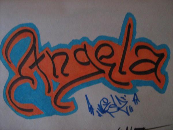 японские картинки граффити с именем ангелина этом плане
