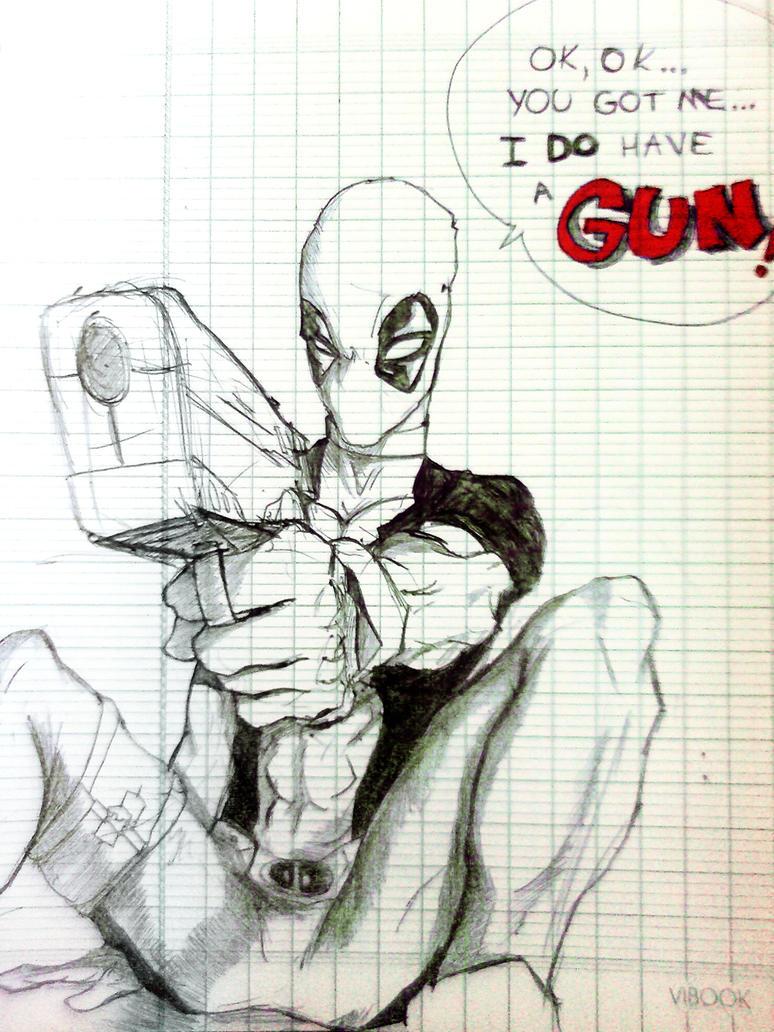 Deadpool ... with a gun by phum0 on DeviantArt