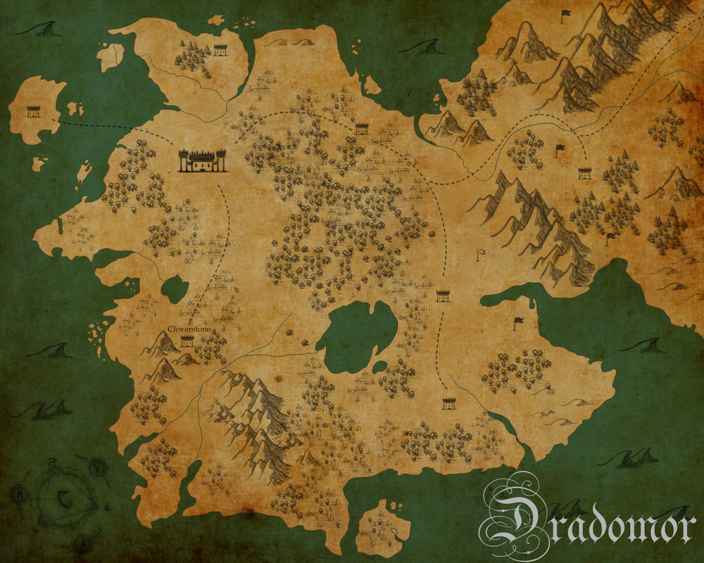 Map of Draedomor by ButtonPrince
