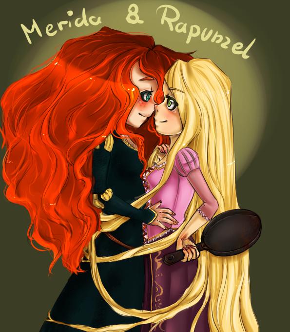 MeridaxRapunzel by Andri-xxx