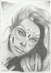 Sugar Skull Girl 2 by mcrocker90