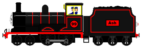 Ash as a Sodor engine by AmazingNascar221