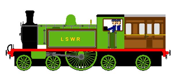 LSWR Saloon Engine sprite by AmazingNascar221