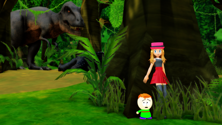 [MMD] Hiding from T-Rex by AmazingNascar221