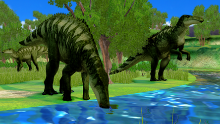 [MMD] Shantungosaurus at the river by AmazingNascar221