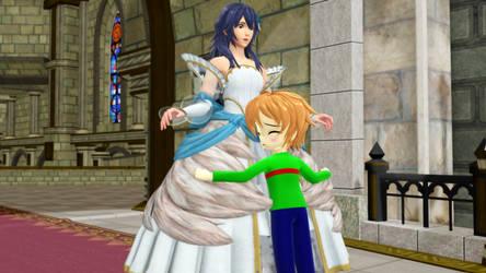 [MMD] Coover hugging Lucina
