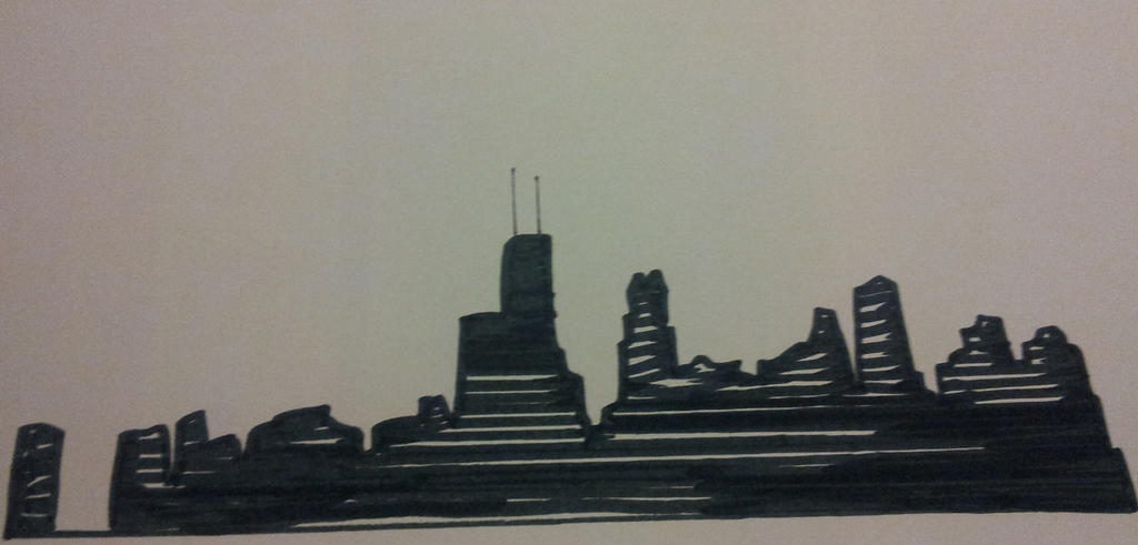 City with Marker by oliveacid