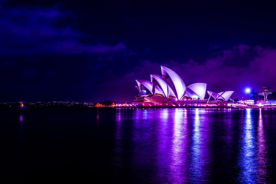 Sydney Opera House at night by Kalmatron