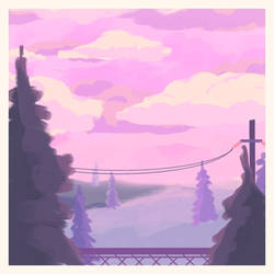 Scenery Practice by peachiibon