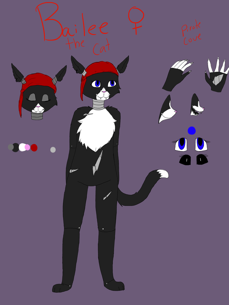 Bailee The Cat FNAF Oc by Catosmosis