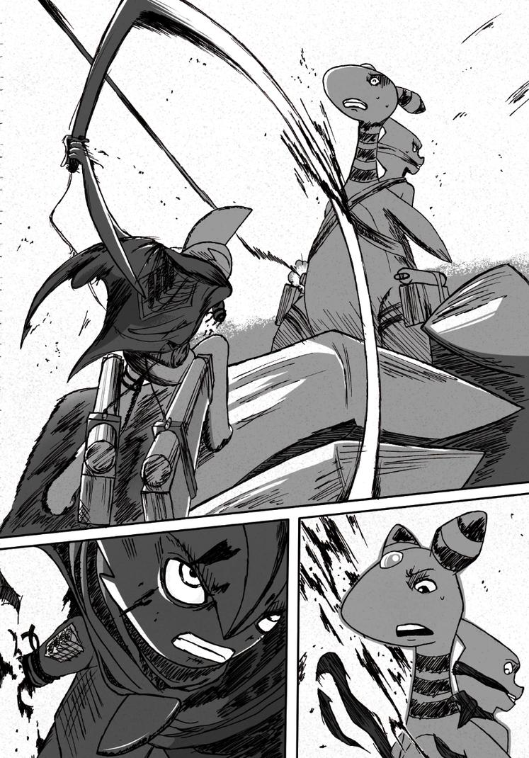 Commander Gallade vs Ampharos by Zalfurius